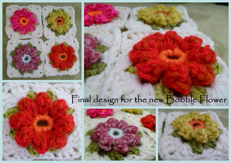 Crochet Pattern Granny Square With Flower : Susan Pinner: NEW CROCHET BOBBLE FLOWER GRANNY SQUARE TODAY