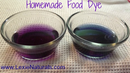 Lexie Naturals: Homemade Purple, Blue and Sea Green Food Coloring