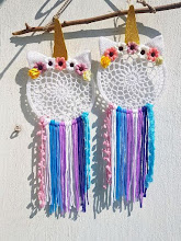 Atrapasueños de unicornio a crochet