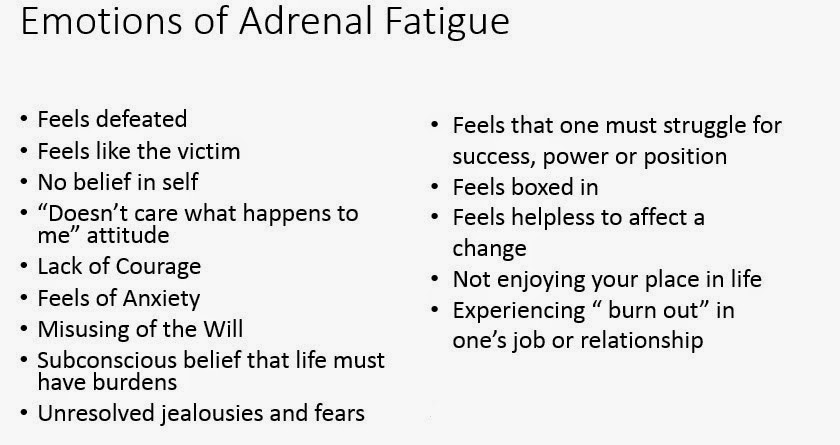 the symptoms of fatigue and its negative effects It's important to remember that most negative symptoms can be corrected if you take action and there's a lot of help available if you are at all worried, do not delay in getting expert.