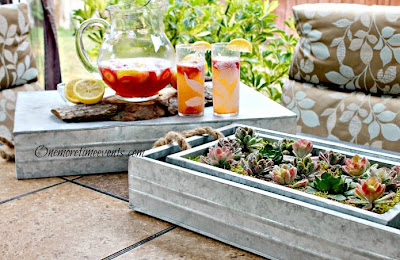 Decorating and using Galvanized trays at One More Time Events.com