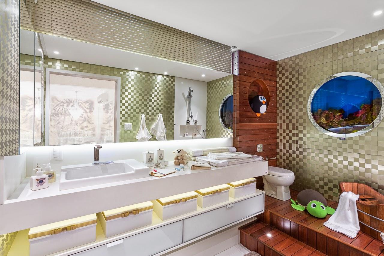 Banheiros de bebês – veja modelos lindos para meninas e meninos  #053D83 1280x853 Banheiro De Bebe Decorado