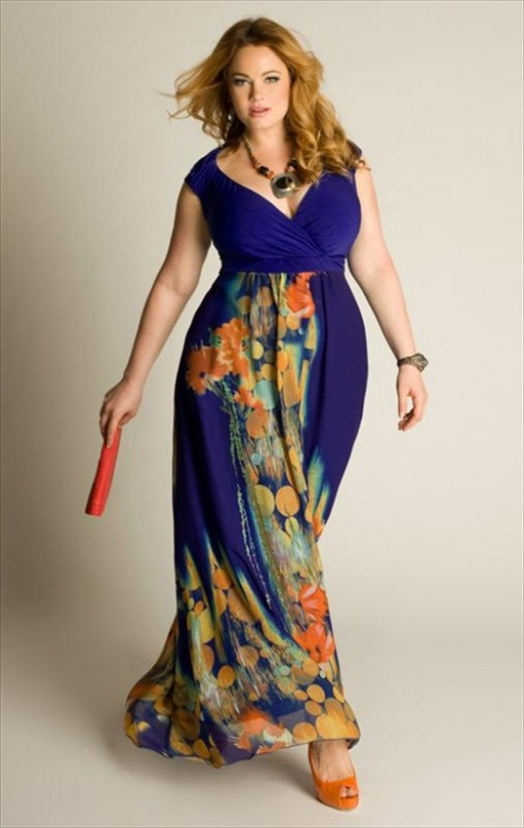 plus sized maxi dresses