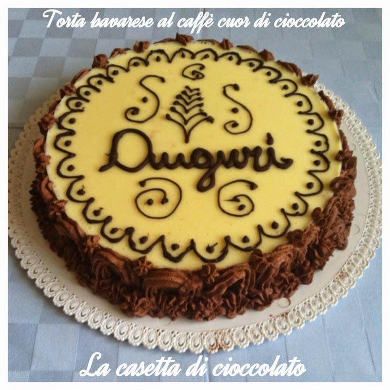 torta bavarese al caffè cuor di cioccolato