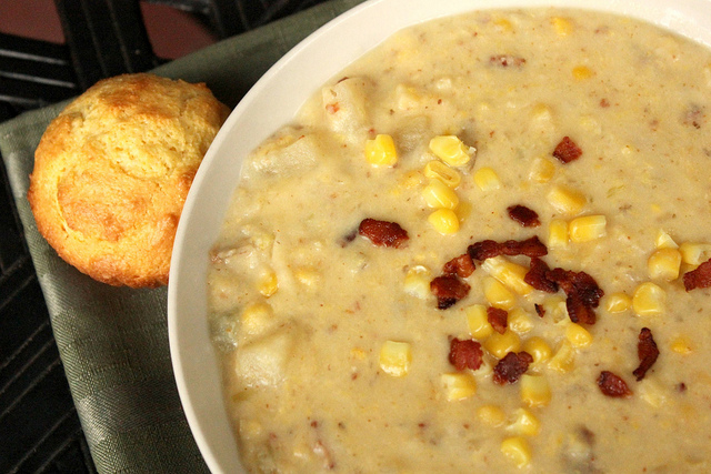 Corn and Potato Chowder for the Crock Pot Slow Cooker from Mama Loves ...