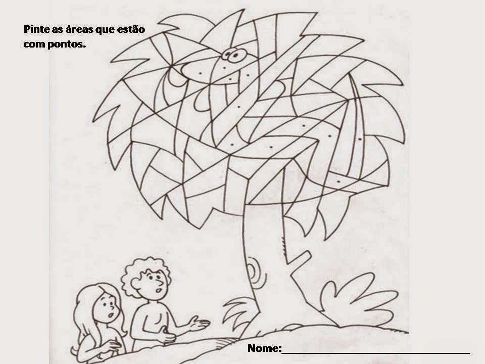 Atividade Adão e Eva ministério infantil