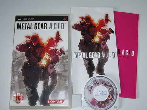 Metal Gear Acid PSP Game Complete Tried & Tested