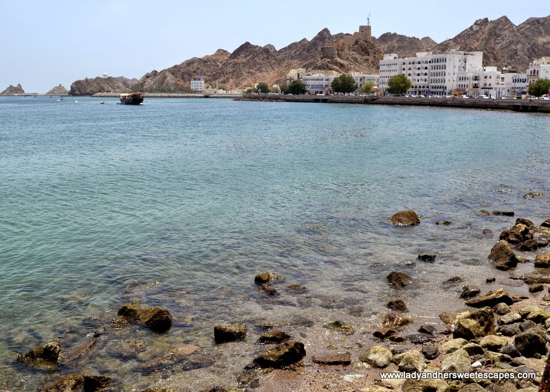 clear blue waters of Mutrah Corniche