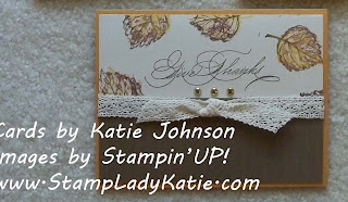 Card made by StampLadyKatie with Stampin'UP! set: Gently Falling