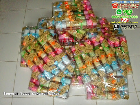 Souvenir Towel Cakeroll Cakes Handuk Kupang