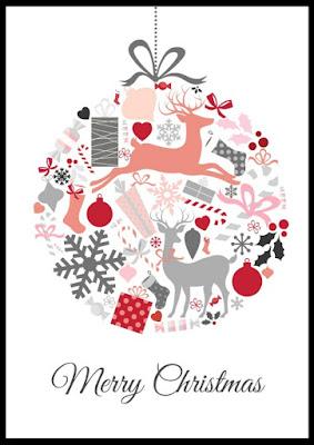 świąteczny poster za darmo