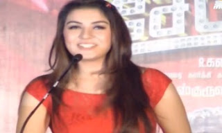 Hansika speaks tamil on Settai Audio launch