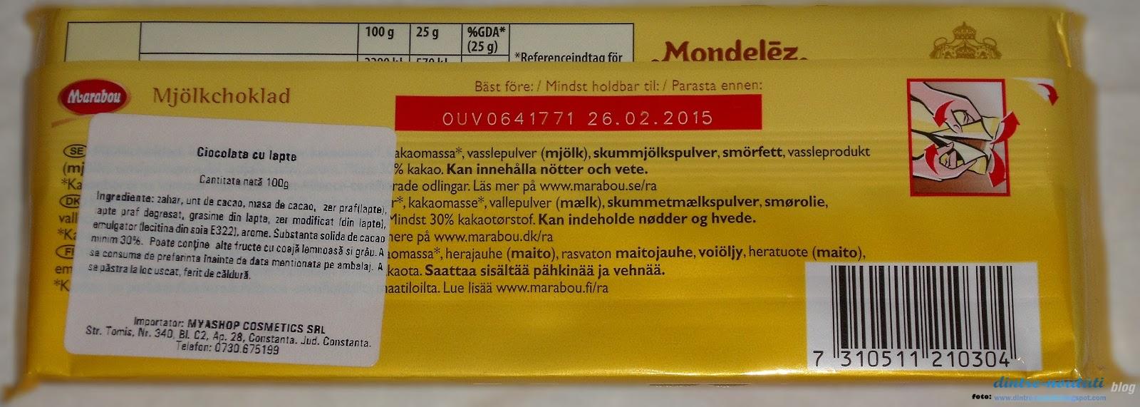 Ciocolata din Suedia cu lapte
