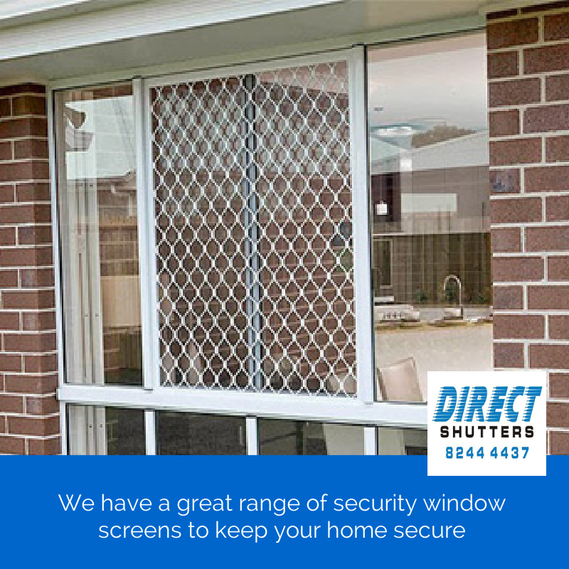 Direct Shutters manufacture and install security window screens in Adelaide