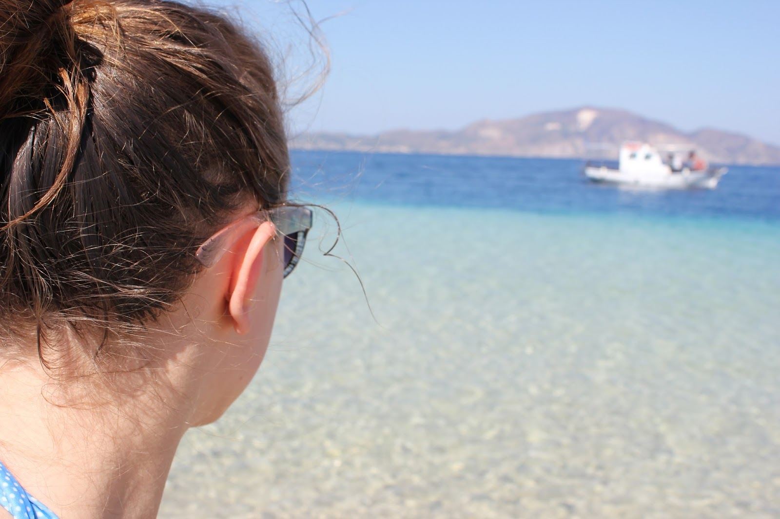 Georgie Minter-Brown blogger actress travel zante tsilivi holiday photo diary sea beach relax boat marathonissi turtle island