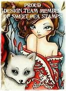 I design for Sweet Pea Stamps