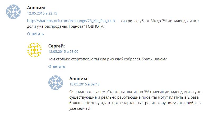 Отзывы о ShareInStock