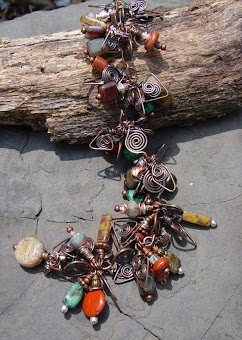 Desert Storm Copper Gem Bracelet