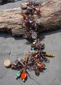 Desert Storm Copper Gem Bracelet