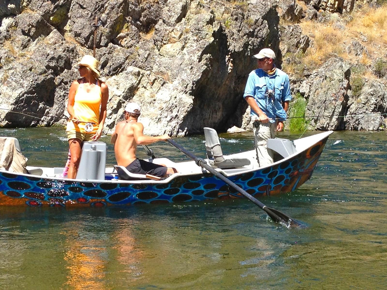 Erik s fly fishing blog when it s on it s on for Drift boat fishing