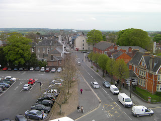 dorchester high street from keep of castle museum