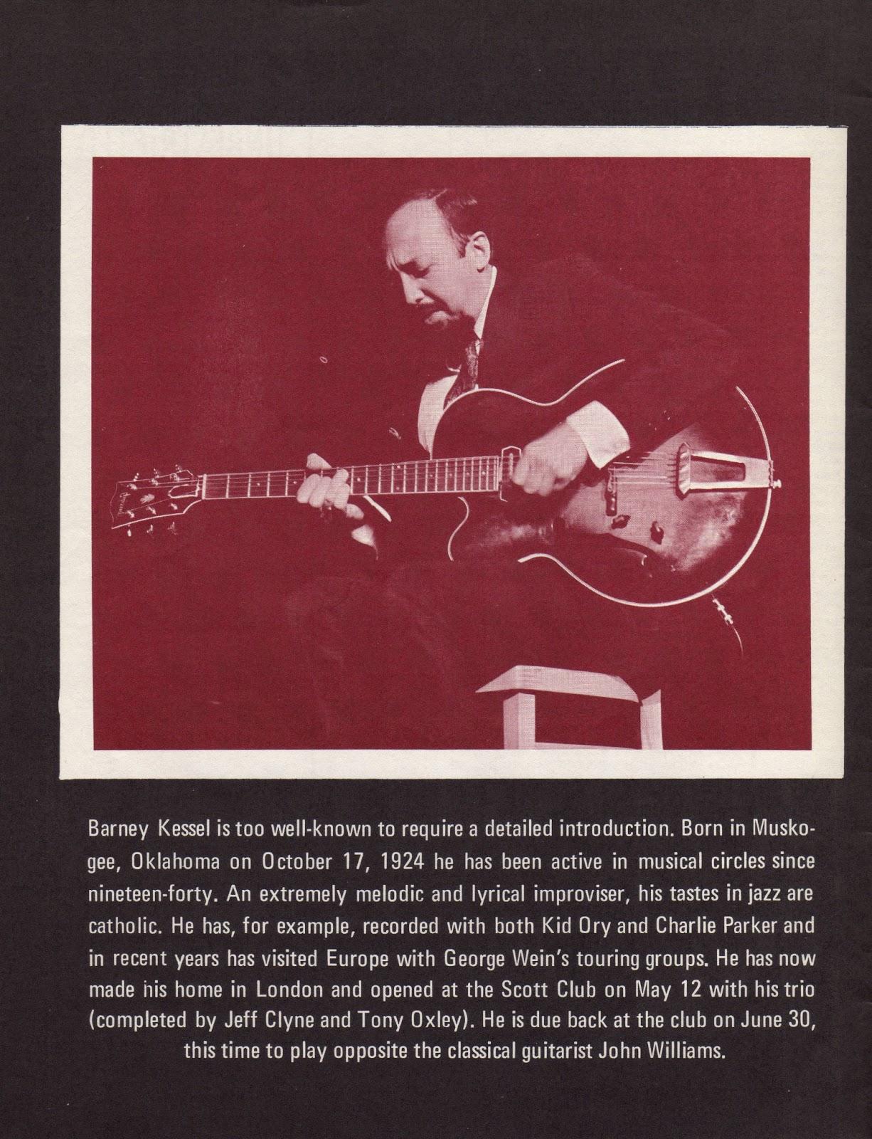 Vinyl Fuzz: Barney Kessel Interview - Jazz Monthly - June 1969