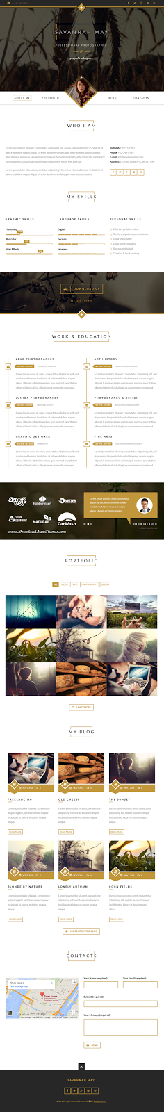 WordPress vCard template
