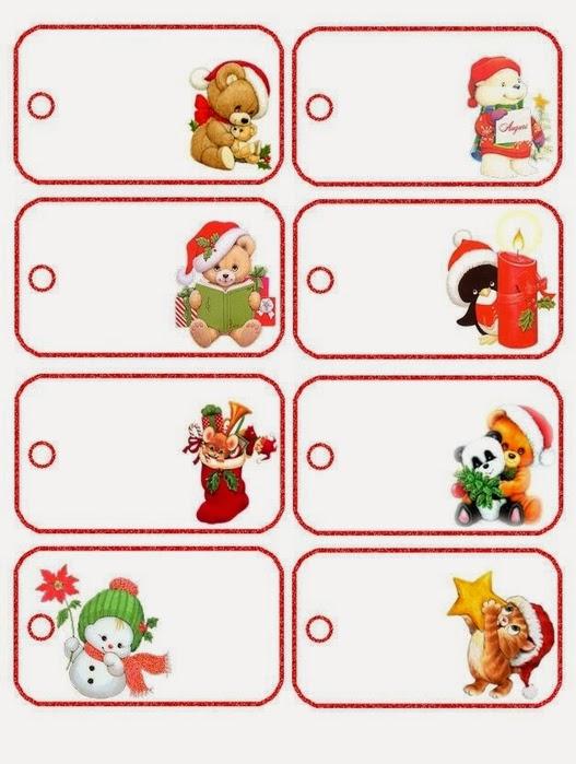 Imprimibles de navidad a lo precious moments para imprimir - Etiquetas para regalos para imprimir ...