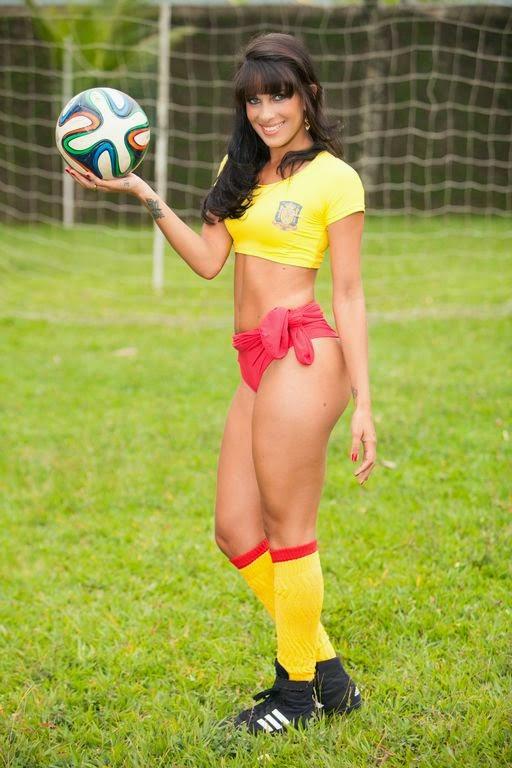 Concurso Musas das Torcidas 2014 - Aline Brandão - Selección Española de Fútbol
