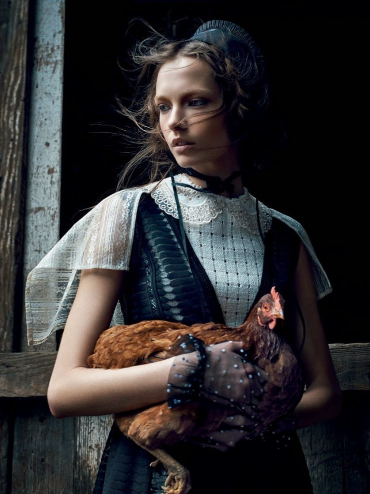 Tale Of Wandering Mina Cvetkovic Is Amish By Nathaniel Goldberg For Vogue Russia March 2015