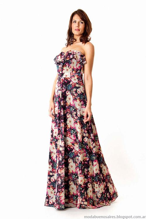 Moda Vestidos de fiesta Veronica Far 2015.