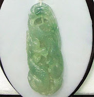 Green jade pendants