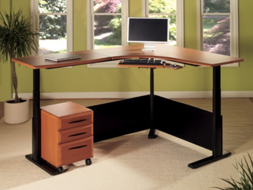 The office furniture blog at is a for Standing office desk furniture