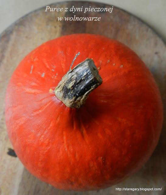 Puree ( mus) z dyni pieczonej  w wolnowarze