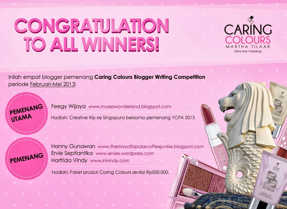 WINNER: CARING COLOUR BLOGGER WRITING COMPETITION