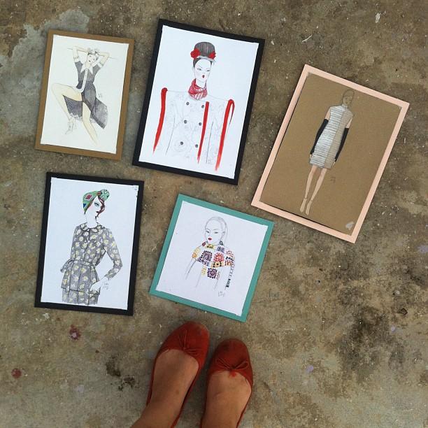 Kitty N. Wong fashion illustrations