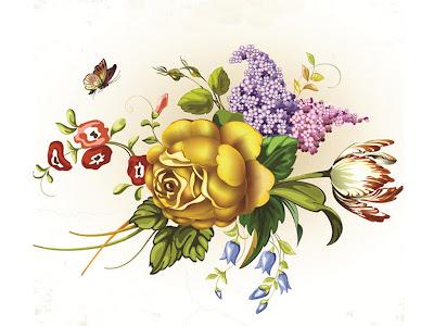 Картинки для декупажа. Цветы.