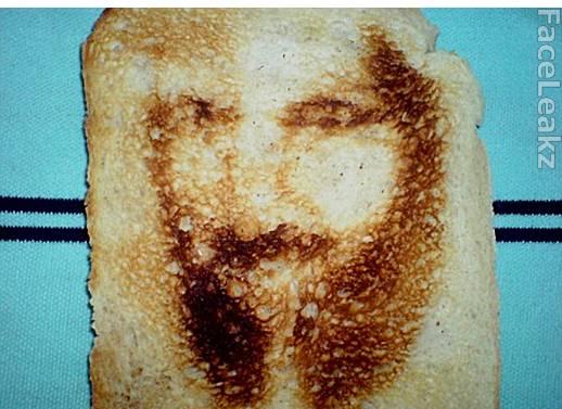 Penampakan Wajah Osama bin Laden Di Atas Selembar Roti Panggang
