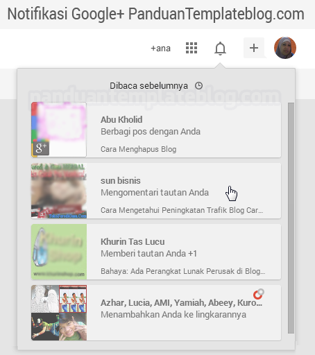 Membuka Kembali Notifikasi Google+ Yang Sudah Dibaca