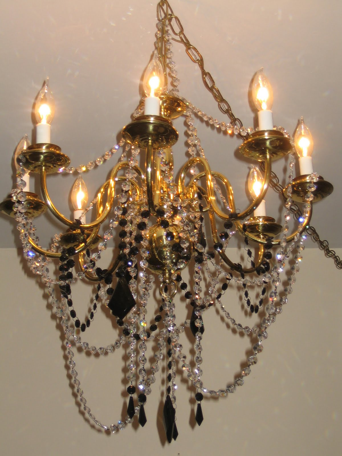 Chandelier renovation upcycled lighting redo chandelier
