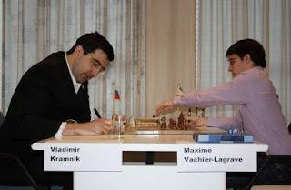 Ronde 5 - Vladimir Kramnik (2791) 1-0 Maxime Vachier-Lagrave (2715) © Site officiel