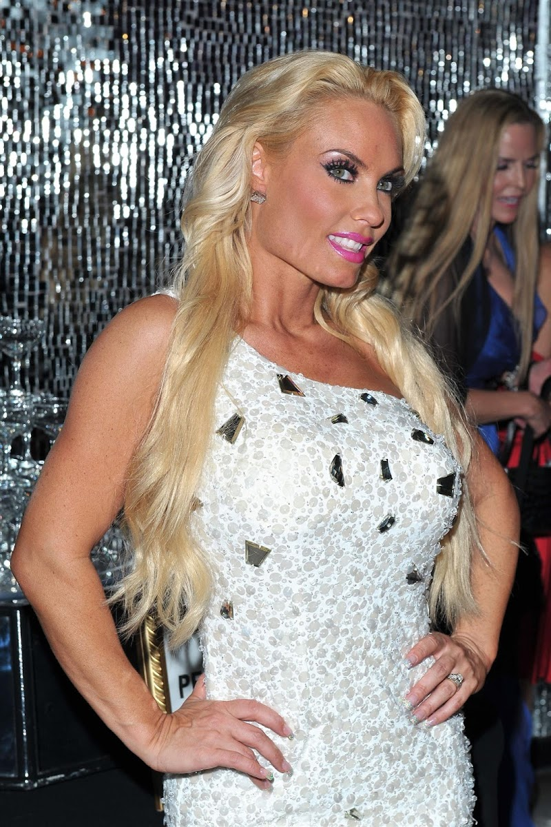 Coco Austin in White Skirt at 'Peepshow' Stage Show in Vegas