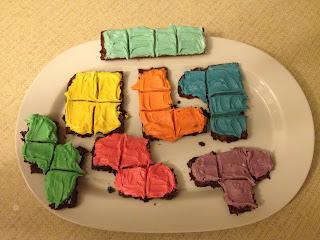 Tetriminios - Tetris Brownies