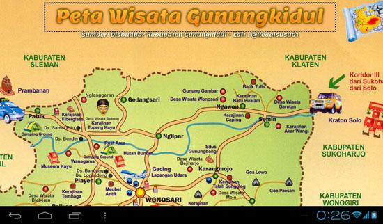 peta wisata gunungkidul