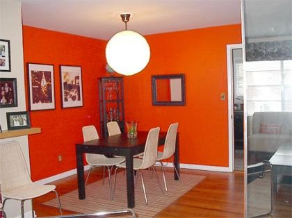 Consejos decoraci n hogar pintar el sal n con colores intensos como el rojo dedicado a los - Colores para pintar un salon moderno ...