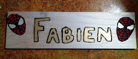 DIY Wood Name Plate Spiderman by Upcycle Fever