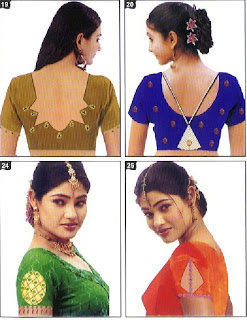 Latest Indian Bollywood Blouse Saree Pattern-How to Measure Neck