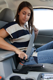 Teen driving safety, buckle seatbelt