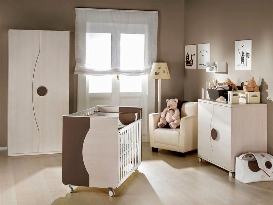 Decotips color chocolate para la habitaci n del beb - Color pared habitacion bebe ...