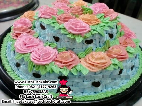 Kue Tart Mawar Cantik Daerah Surabaya dan Sidoarjo